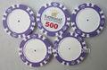 14 gramo de arcilla poker chips con diseños en blanco
