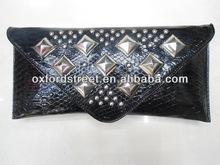 Rivet PU lady wallet branded ladies wallets