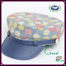 Manufacturer hot selling round dot printing children peaked cap