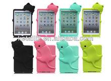 2013 custom design for silicone ipad mini case cat shape any color is OK