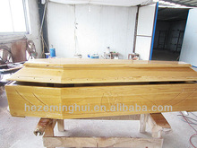 adult wooden coffin