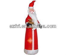 pvc outdoor standing inflatable Santa Claus/ Christmas Decoration/popular inflatable christmas standing santa claus