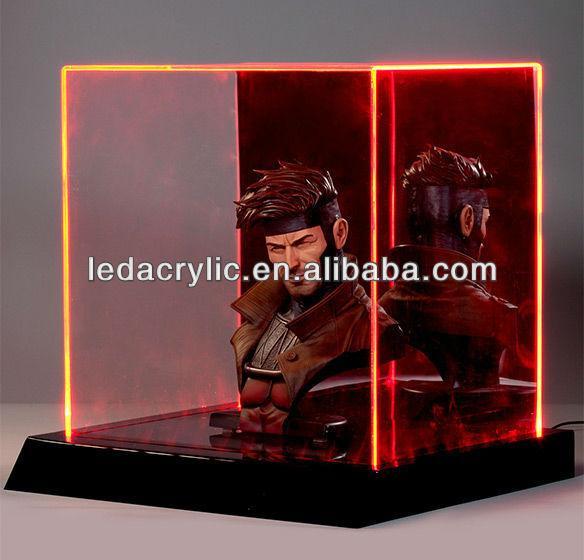 led lighted glass display case view led lighted glass. Black Bedroom Furniture Sets. Home Design Ideas