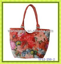 elegant classic striped summer cheap canvas beach bag