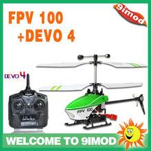 Walkera Normal Version FPV 100+DEVO 4 Mini Lama 4 Ch Mini Helicopter
