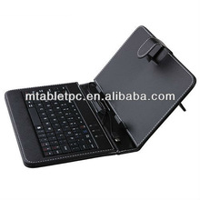7 inch Tablet case with Mic usb port Keyboard Leather Case with mic usb port