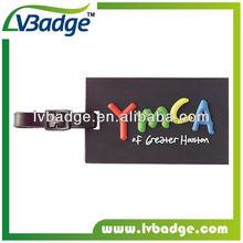 2013 PVC suave etiqueta del equipaje, etiqueta del equipaje de goma, plástico etiqueta del recorrido