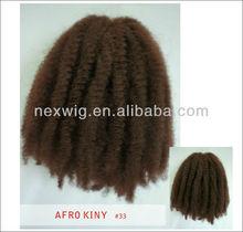 Synthetic Afro kinky curl hair bulk