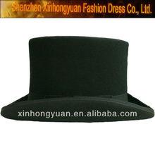 Formal headwear 100 wool felt black top hats for men