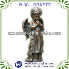 Bronze praying baby angel figurine