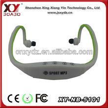 Colored wireless FM radio bluetooth sport mp3 neckband earphone
