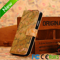 Factory price leather wallet case pouch galaxy s4 fit