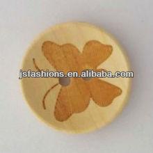 Fashion laser cut design wooden button