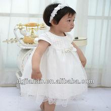 2013 latest fashion comfortable Korean wear baby girls party dress design