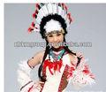 2013 de moda sombrero de plumas indio