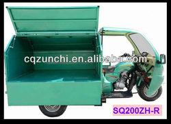 200cc air cooled engine 3 wheel motorbike/three wheeler motorcycle/garbage trike