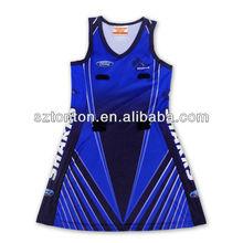 custom sublimation korean netball dresses new fashion 2013