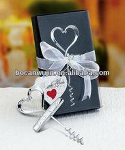 Heart Shaped design corkscrew Wedding Favors