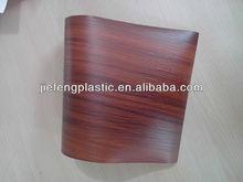 laminated vacuum press natural color wood grain pvc sheet for furniture