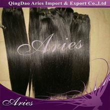 Wholesale Virgin Brazilian Human Hair Weft silk Straight natural black