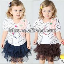 Han edition fashion summer new dot 3 sets the princess skirt
