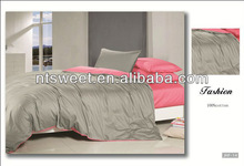 100% colorful mirco fiber india bedding /gray/pink/queen/new products/cheap/bedsheet set