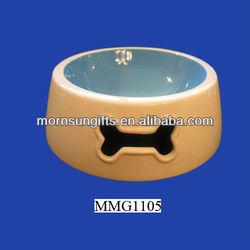 Extra large cute ceramic pet salad bowl