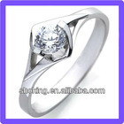 Ladies' 925 Silver Rhodium Plated Jewelry With A Singal Zircon Stone