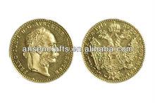 Austrian 1 Ducat Old Gold Coin,Gold Coin Bullion,Custom Gold Coin