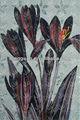 Mosaico de vidrio a mano- corte de patrón de arte, foto de la flor para la decoración del hogar material