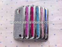 Bright glitter power rhinestone design plastic case for samsung galaxy s4 i9500