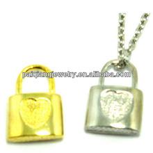 mini cooper key and lock couple pendants set