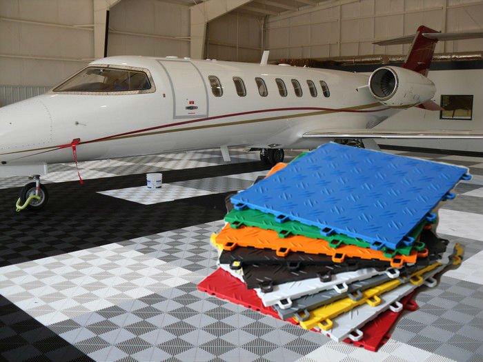 Interlocking polymer Basketball floor tile