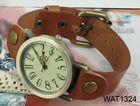 Genuine leather quartz watch bracelet