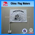 flags banner pubblicitario su vetture con palo