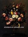 pintura al óleo de flores en florero
