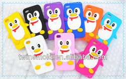 Silicone rubber phone case for iphone 5 with animal shaped