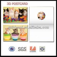 deep 3D card,3D post card,lenticular greeting card