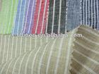 100% yarn dyed stripe linen flax fabric