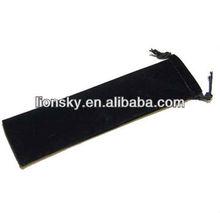Hot sales stock item black velvet pen pouch softly