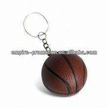 mini basketball antistress plastic keychain