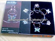 Fashion Metal Wine Glass Charms