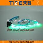 New USB led 2.0 leopard leash TZ-PET4201U Flashing Dog Collar