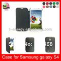 Para samsung galaxy s4 teléfono móvil funda de piel, de la pu de alta calidad de cuero caso de telefonía para samsung galaxy s 4, negro