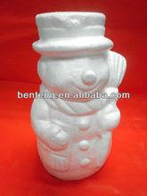 2013 white artificial led light christmas snowman decoration