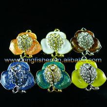 New Fashion 27*25mm flowers alloy enamel crystal rhinestones connectors!! Enamel crystal connector for DIY jewelrys!! !!