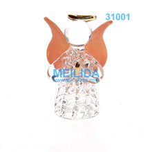 Clear hanging spun Glass Angel