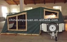 luxury fiberglass caravan with tent
