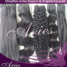 drawn grade italy coarse yaki striaght brazilian virgin human hair weft extension