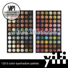 Professional 120-3 eyeshadow makeup palette sharpenable pen